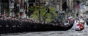 The funeral for U.S. Marine staff sergeant and FDNY firefighter Christopher Slutman
