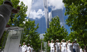 New York City Strong – Joint reenlistment and promotion ceremony at the 9/11 Memorial