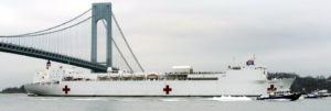 CORONAVIRUS PANDEMIC DISASTER – NAVY COMFORT ARRIVES IN NEW YORK CITY