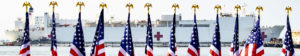 USNS Comfort Navy Hospital Ship on way to New York City