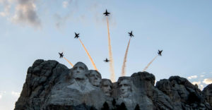 Salute to America – Blue Angels over Mt Rushmore